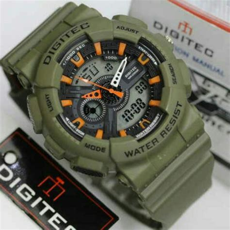 Jam Tangan Digitec Original Aviation Green jual jam tangan digitec dg 2020t original water resistant