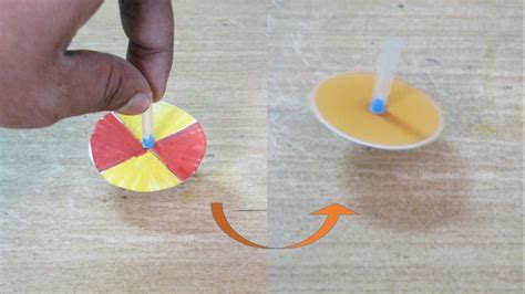 How To Make A Paper Top - how to make a color changing spinning top for