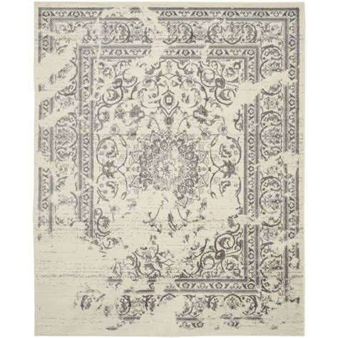 11 X 15 Area Rug Safavieh Adirondack Ivory Silver 11 Ft X 15 Ft Area Rug Adr101b 1115 The Home Depot