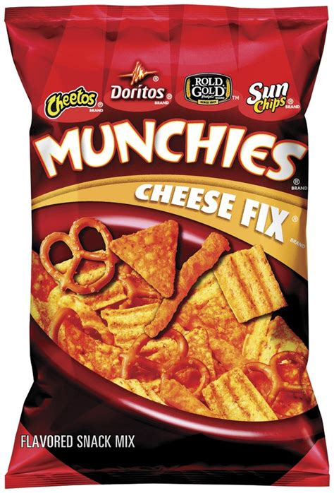 hot chips mix munchies snack mix cheese fix 8 ounce pack of 3