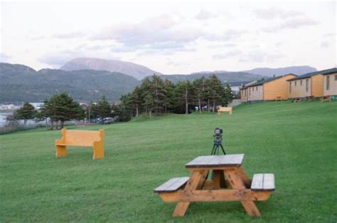 Gros Morne Cabins Rates by Gros Morne Cabins The Picnic Tables On The Lawn That