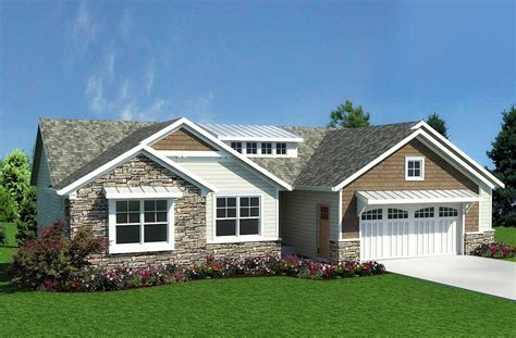 craftsman ranch craftsman inspired ranch home plan 18232be