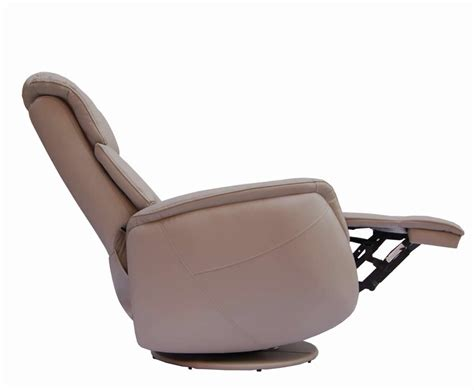 ramsey pebble bonded leather swivel recliner chair