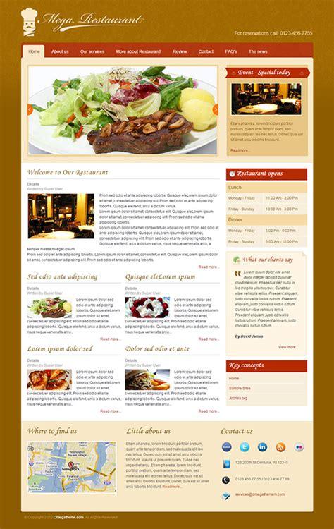 joomla templates for restaurants joomla restaurant templates