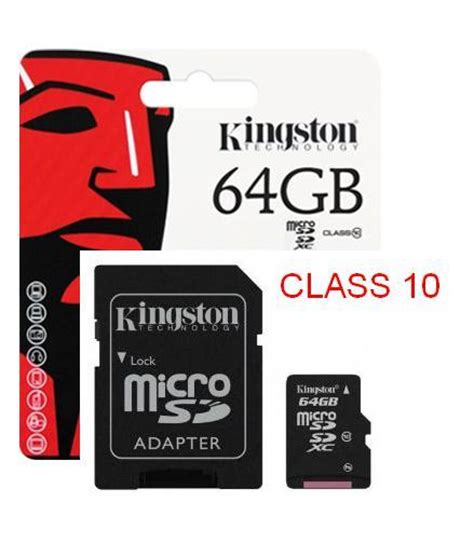 Micro Sd Kingston 16gb Class 10 kingston secure digital card sdc10g2 64gb in pakistan