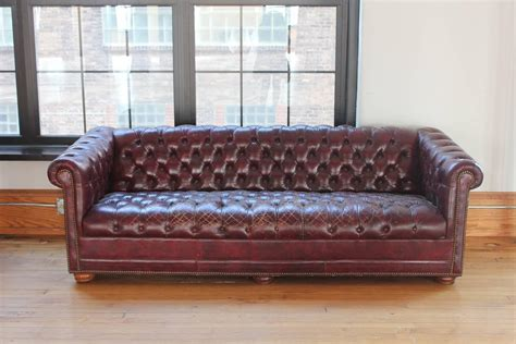 burgundy chesterfield sofa vintage distressed burgundy leather chesterfield sofa for