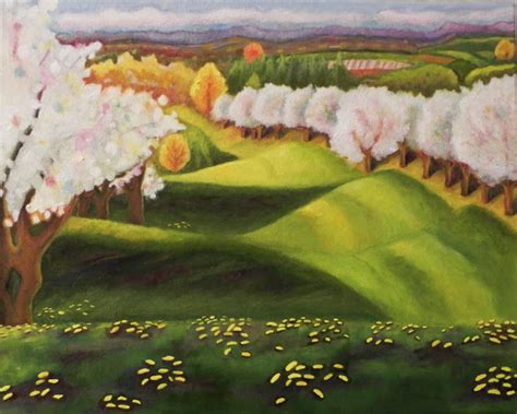 paint with a twist traverse city power of the flower suttons bay cherry blossom painting