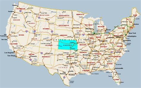usa map ks kansas usa map
