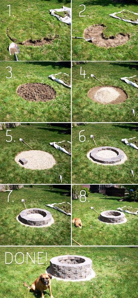 do it yourself backyard pit