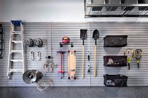 reclaim your garage floor space using a slatwall system