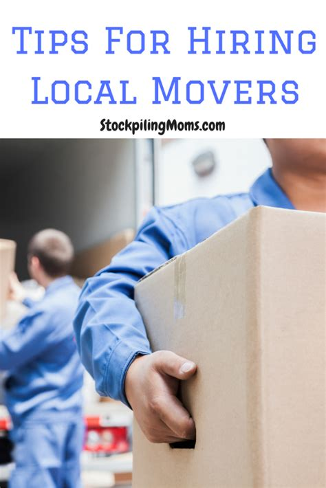 hiring movers tips for hiring local movers