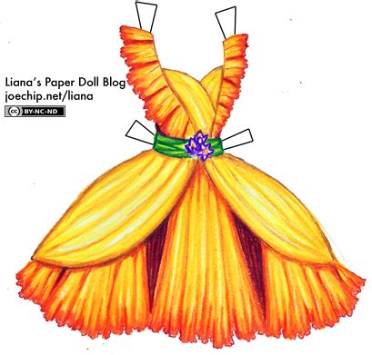 Liana Drees daffodil dress with crocuses liana s paper dolls