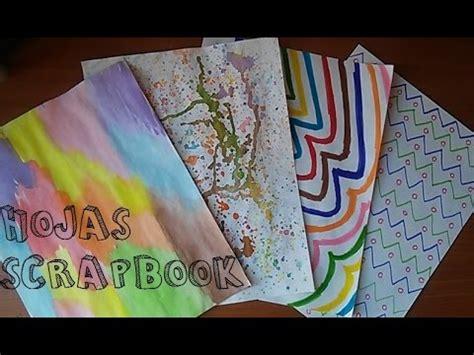imagenes de hojas blancas decoradas diy hojas decoradas scrapbook facil youtube