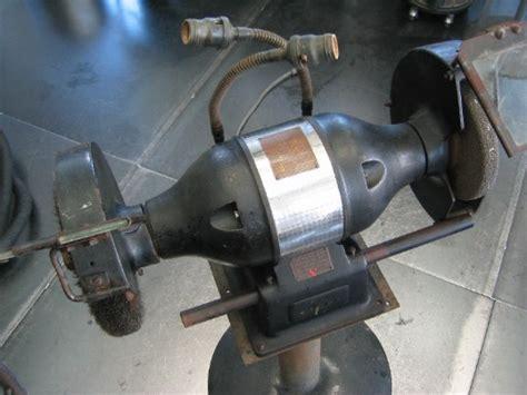 old bench grinder flamingsteel