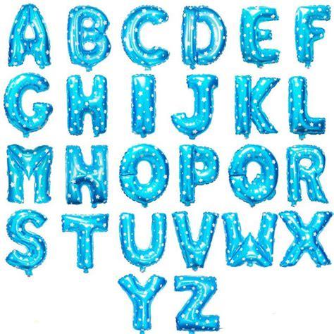 sta lettere 16 polegada azul letras do alfabeto bal 227 o de alum 237 nio