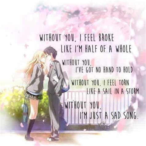 anime lyrics anime your lie in april if you are wondering these