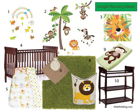 Wall Colors For Family Room jungle themed nursery ideas little fish