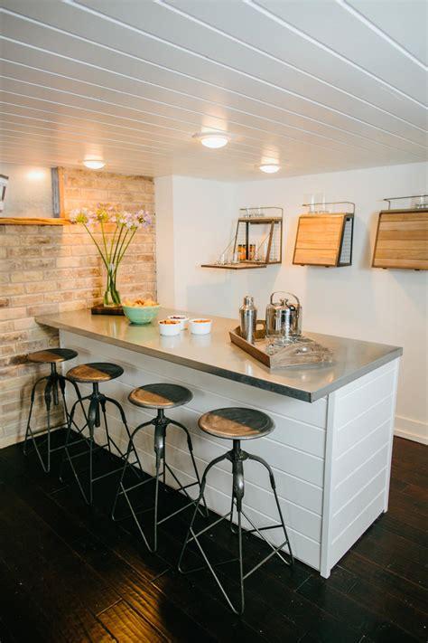shiplap under bar fixer upper bringing a modern coastal look to a quot faceless