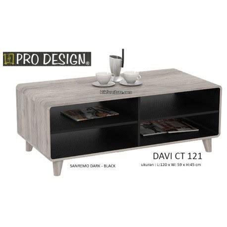 Meja Tv Prodesign davi ct 121 meja coffee tamu pro design promo