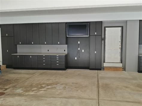 Large Garage Cabinets large garage cabinet project chardon oh industrial garage other metro by store with style