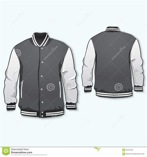 sports or varsity jacket stock vector image 65720135