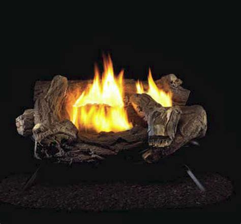 Gas Fireplace Logs With Remote by Procom Split Hickory Ventless Gas Logs Remote Ready 18