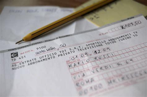 banco posta iban canone nelle bollette slitta la scadenza per