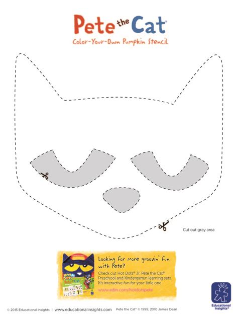 pete the cat printable template fall with your one 5 ideas for decorating