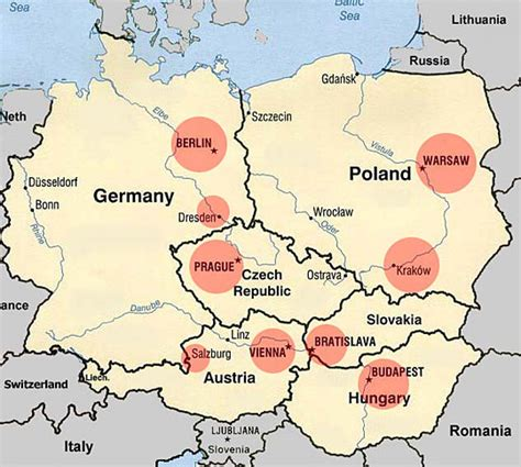 map of central europe map of europe cities pictures maps of central europe countries