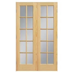 shop reliabilt prehung solid 10 lite clear glass pine