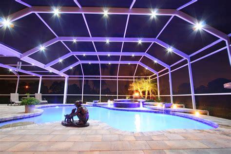 lighting around pool deck the nebula system patent pending is designed