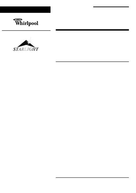 Whirlpool Stove 1 User Guide | ManualsOnline.com