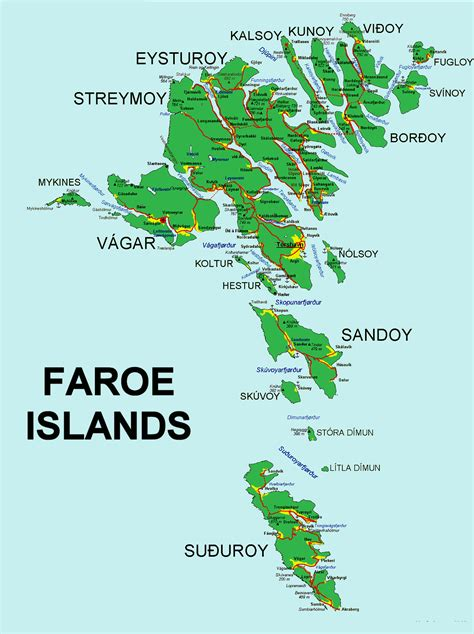 faroe islands map the faroe islands suzzstravels