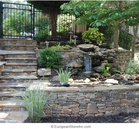 Sloped Backyard Retaining Wall 17 Best Images About Water Features Amp Retaining Walls On
