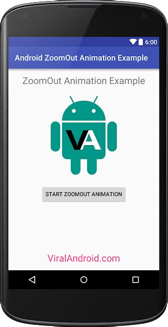 layout animation tutorial android zoom out animation in android viral android tutorials