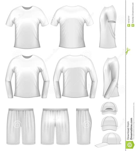 white men s clothing templates royalty free stock