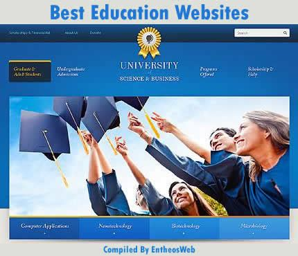 Best Education Website Templates Entheos Free Website Templates For Academy