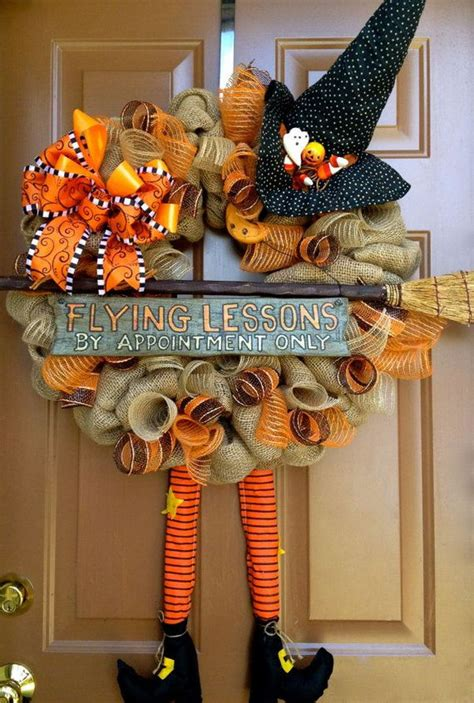 cute diy witch wreath tutorials ideas  halloween hative