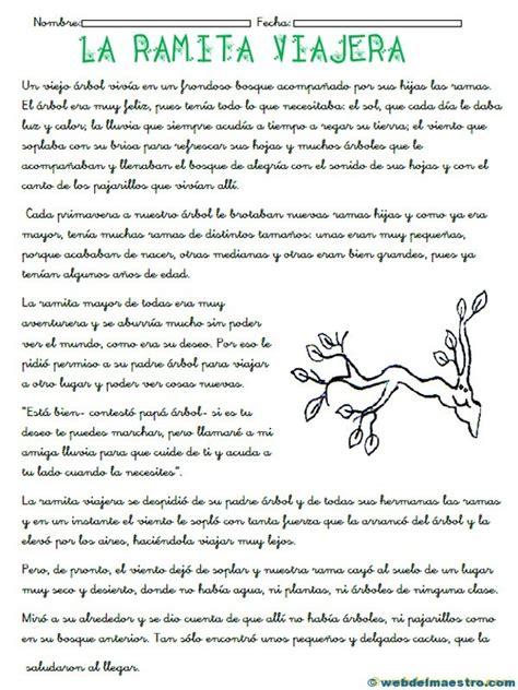 El Cuento Tercero Primaria | comprensi 243 n lectora para tercero de primaria web del