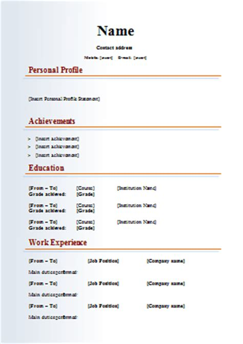 Cv Template Downloaden Multimedia Media Cv Template