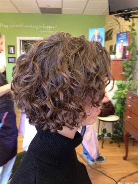 naturally curly inverted bob haircuts loose curly bob hairstyle for short hair side view