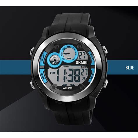 Skmei Jam Tangan Digital Pria Dg1122s Berkualitas skmei jam tangan digital sporty pria dg1234 blue