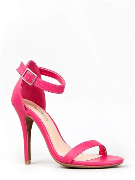pink sandals heels ankle heels make your appearance becomes more