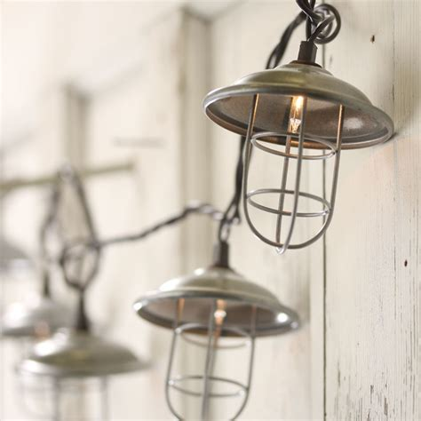 industrial string lights industrial lantern string lights lighting home decor