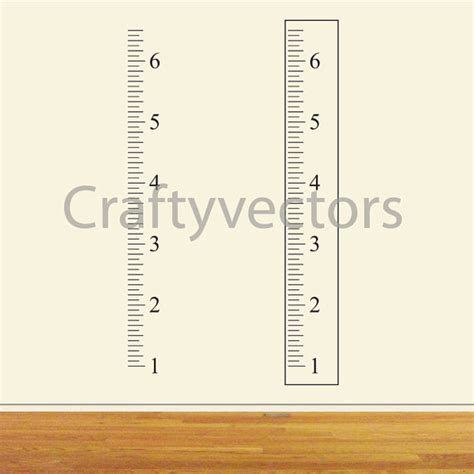 free printable height ruler ruler growth chart vector template inches