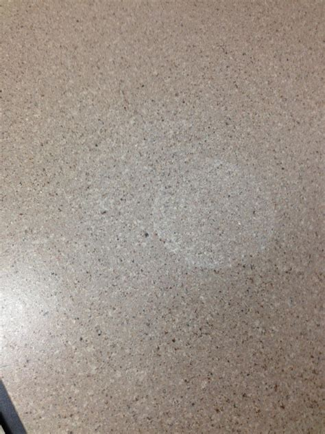 corian heat damage repair remove white stain from countertop home