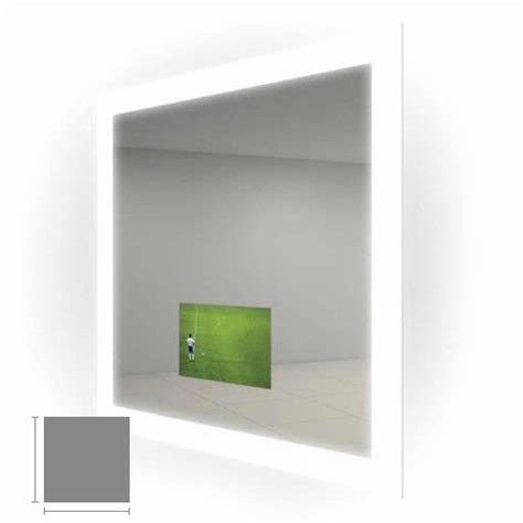 Electric Mirror Silhouette 36 Quot X 36 Quot Lighted Mirror Tv Electric Mirror Bathroom
