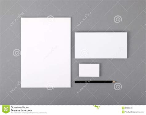 card stock window templates blank basic stationery letterhead flat business card