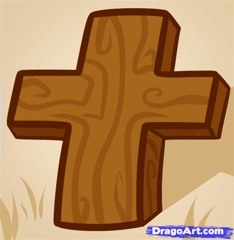 how to a for how to draw a cross for step by step stuff pop culture free drawing