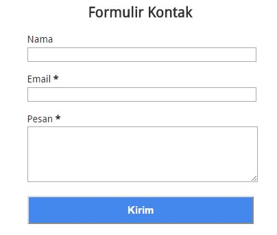 membuat form kontak html membuat form kontak halaman statis blog contoh blogspot